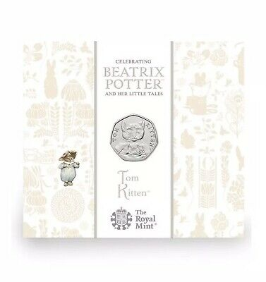 2017 Tom Kitten Beatrix Potter 50p BU Brilliant Uncirculated Coin Royal Mint