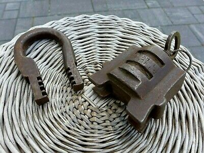 Antique Large Padlock With One Working Key Unique Made in Russia 27-01
