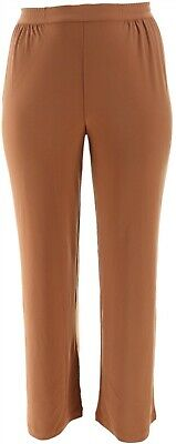 Linea Louis Dell'Olio Moss Crepe Pull-On Semi-Fit Pants Cinnamon M NEW A273877