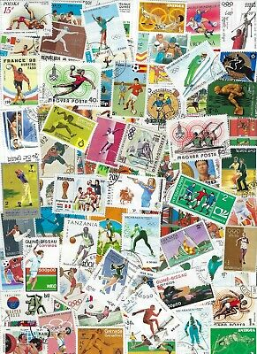 Worldwide , Sports on 100 Different Stamps.........Br - D 6 27