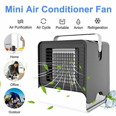 Climatiseur Mobile Mini Humidificateur Air Conditionné Ventilateur USB Neuf