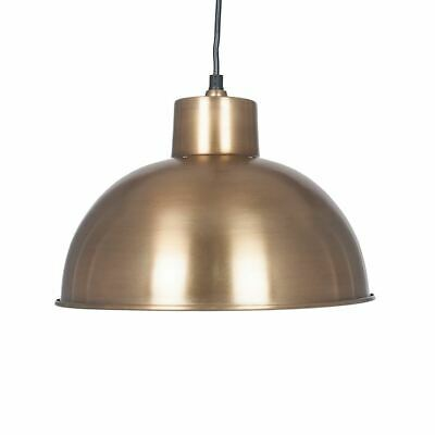 Untique Style Shiny Brass Metal Dome Pendant Light Fitting-Home Lighting Decor