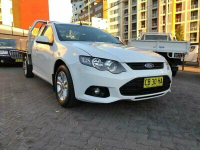 2014 Ford Falcon FG MK2 XR6 White Automatic 6sp A Cab Chassis