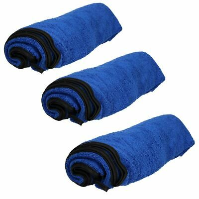Three Microfibre Absorbent Pet Dog Travel Towel (Blue) 100x70cm