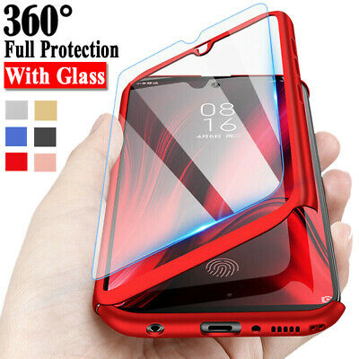 For Samsung Galaxy A10 A20 A30 A40 A50 A60 A70 Full Cover Case + Tempered Glass