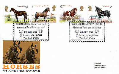 5 July 1978 Shire Horses Post Office First Day Cover Horses On Stamps Exhibition