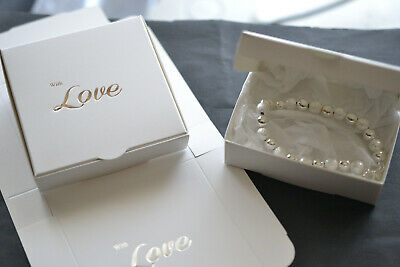Jewellery Gift Boxes, White, With Love, Flat pack  (D.41)