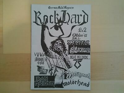 Rock Hard Nr. 2, Oct 1983, Metal Magazin, Iron Maiden, Metallica, Lemmy