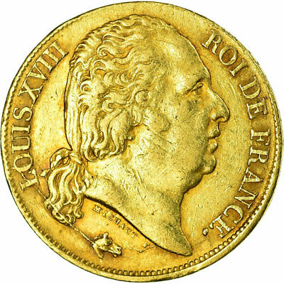 [#515419] Monnaie, France, Louis XVIII, 20 Francs, 1817, Bayonne, TTB, Or