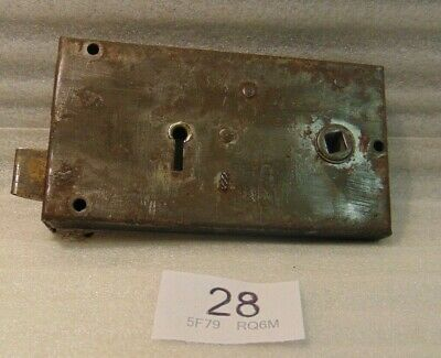 Antique Brass And Steel Rim Door Lock  28
