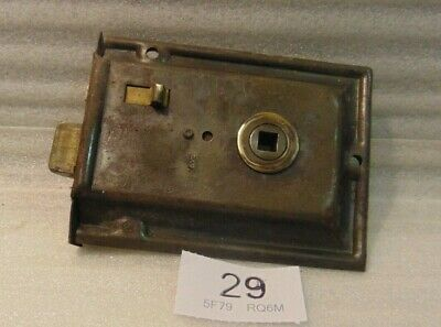 Antique Brass And Steel Rim Door Lock  29