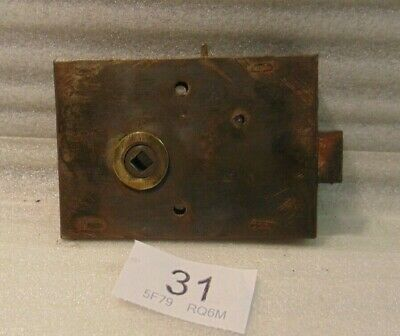 Antique Brass And Steel Rim Door Lock  31