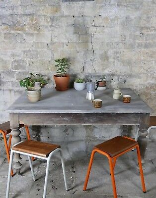 Vintage Retro Industrial School Stacking Science Lab Cafe Kitchen Bar Stools NEW