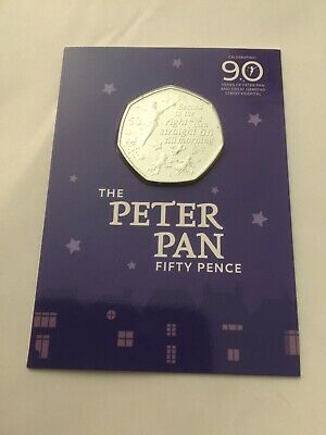 New British Isles 2019 Peter Pan 50p UK Coin Hunt Collectable