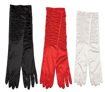 Ladies Long Satin Gloves Opera Theatrical Evening Party