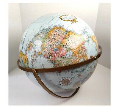 """Vintage 16"""" Replogle World Classic Dual Axis Globe - No Stand Raised Topography"""
