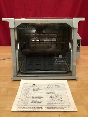 Ronco Showtime Rotisserie BBQ Model 5000 Platinum Silver Accessories Oven Cooker