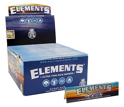 50 Elements King Size Slim Ultra Thin Rice Rolling Papers 110mm  - Full Box