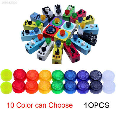 10PCS/Pack Electric Guitar Effect Pedal Foot Nail Cap Toppers Candy Color 49B7