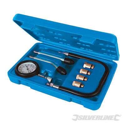 Silverline Petrol Engine Compression Test Kit 8pce 0 - 300psi (953656)