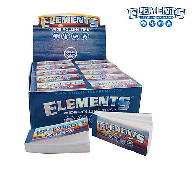 Elements Wide Rolling Tips Cigarette Filter Joint Roller Papers Roaches Book