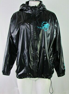 Miami Dolphins NFL Touch By Alyssa Milano Women Active Black/Green Jacket w/Hood