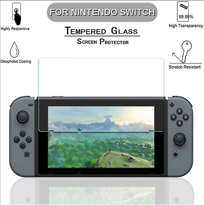High Quality 9H Clear Tempered Glass Screen Protector For Nintendo Switch