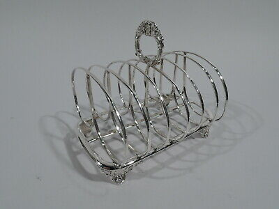 William IV Toast Rack - Antique Georgian Regency - English Sterling Silver