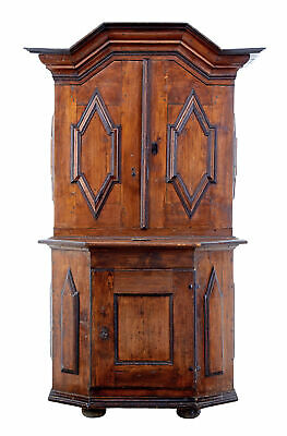 18Th Century Scandinavian Pine Baroque Cupboard