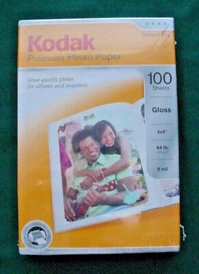 "Kodak Premium Photo Paper * 100 Sheets Gloss 4x6"" * NEW SEALED"