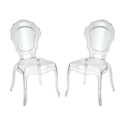 Sterling Industries 4210-002/S2 Vie En Rose Clear Accent Chairs, Set of 2