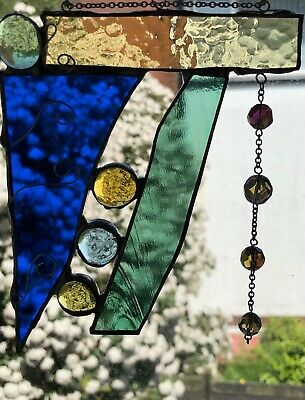 Stained Glass Unique Abstract with Pretty Embellishments
