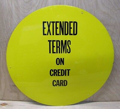 EXTENDED TERMS ON CREDIT CARD TIRE Ad Insert Gas Station Repair Shop