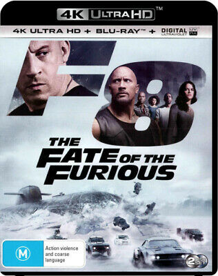 F8: The Fate Of The Furious (4K Uhd/Blu-Ray/Uv) (2016) [New Bluray]