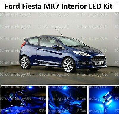 Blue Premium Ford Fiesta Interior Led Upgrade Kit 2009 - 2017 Mk7 Mkvii