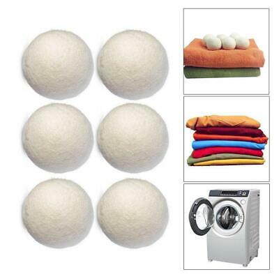 1/6pcs Dryer Balls Natural Wool Softener Laundry Reusable Saves Drying Time JL
