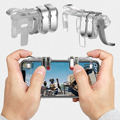 Mobile Phone Game Controller Fire Button Key Gamepad Shooter Trigger For PUBG