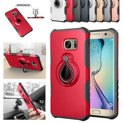 Case Cover For Samsung Galaxy S7 Raindrop Shockproof Ring Holder+Kickstand Armor