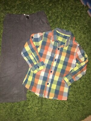Marks & Spencer Boys Smart Tshirt And Cord Brown Early Days Trousers Size 1.5-2