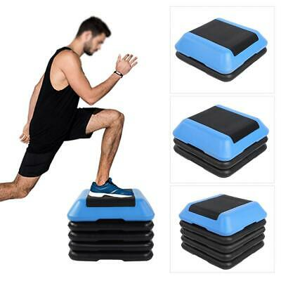 Portable Adjustable Aerobic Stepper Step Exercise Fitness Cardio Trainer Gear