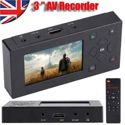 Digital AV Recorder Audio Video Converter Convert Camcorder Player Tapes USB/TF