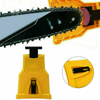 US Easy File Chainsaw Teeth Chain Sharpener Power Sharp Bar-Mount fr Woodworking