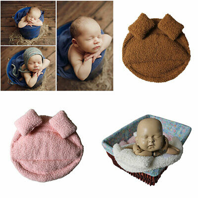 Newborn Photography Photo Prop Soft Blanket + Pillow Set Boy Girl Baby Infant