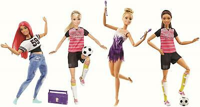AUSWAHL: Mattel - Barbie Made to Move - Sportlerin Puppen - Fussballerin Puppe