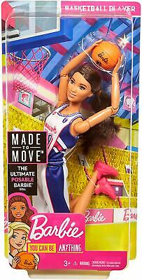 Mattel - Barbie Made to Move - Basketballspielerin Puppe - Bewegliche Puppe