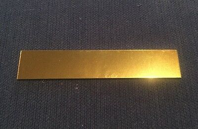 Gold Colour Metal Name Plate (80mm x 15mm) Ideal for engraving