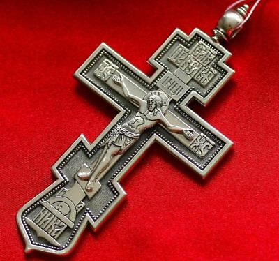 Pectoral Priest Crucifix Russian Orthodox Exclusive Custom Order Silver 925 New