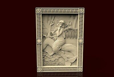 3d STL Model CNC 260 (Ojiganov_Mermaid) Engraver Carving Machine Relief Artcam