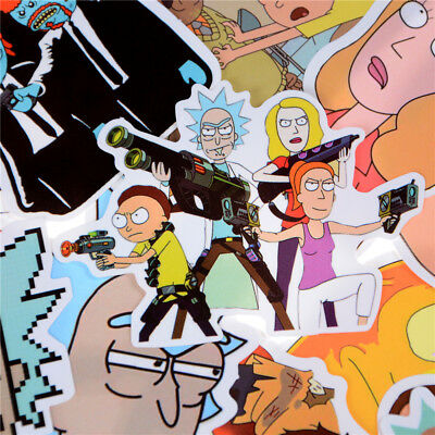 35X Rick and Morty Sticker Car Laptop Bicycle Notebook Waterproof Sticker J/&C