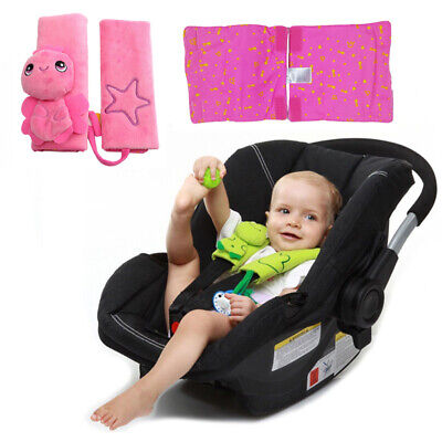 Baby Car Seat Strap Covers Belt Shoulder Pads 2-Pack, Soft Strap Covers Cartoon